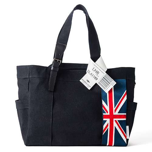 "【DOUBLELOOP】JOURNEY resort tote""LARGE""「イギリス」/帆布トートバッグ"