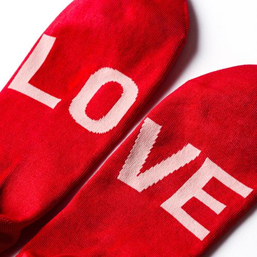 【BEAMS】LOVE SOCKS ソリッドカラー