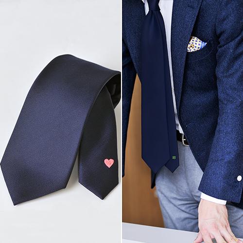オリジナル刺繍ネクタイ ハート