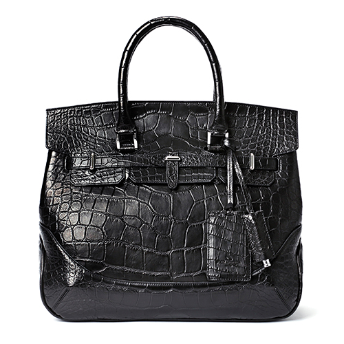 【PELLE MORBIDA】Crocodile Boston Bag