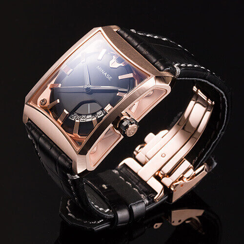 "【MINASE】腕時計「FIVE WINDOWS」藤巻百貨店限定カラー""PINK GOLD"""
