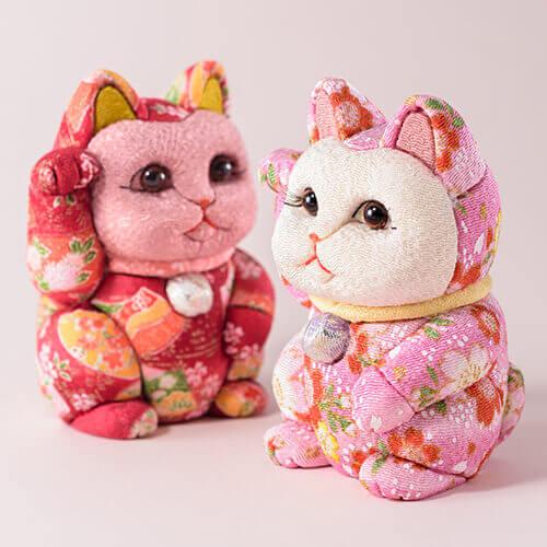 柿沼人形 招き猫 友禅