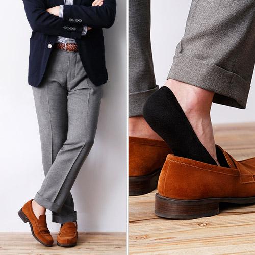 【Pittabari】浅履きフィット靴下(フットカバー)
