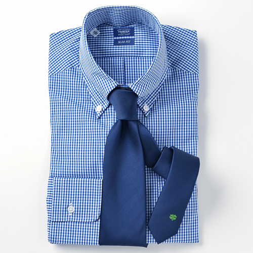 オリジナル刺繍ネクタイ 四葉のクローバー