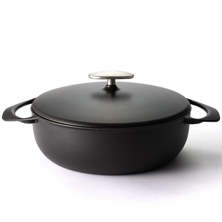 UNILLOY 鋳物ホーロー鍋 浅型24cm